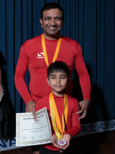 Ishwar won the UK national yoga championship.