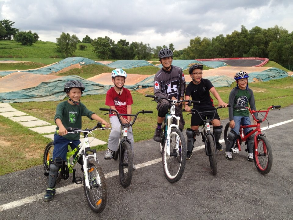 Trainers of Singapore Cycling Federation (SCF) impart training of cycling to school children.