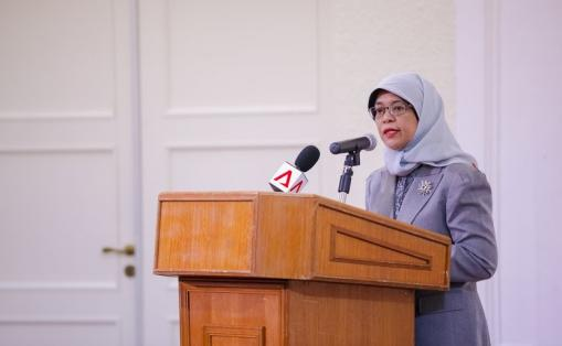 Halimah Yacob, Speaker of Parliament of Singapore.