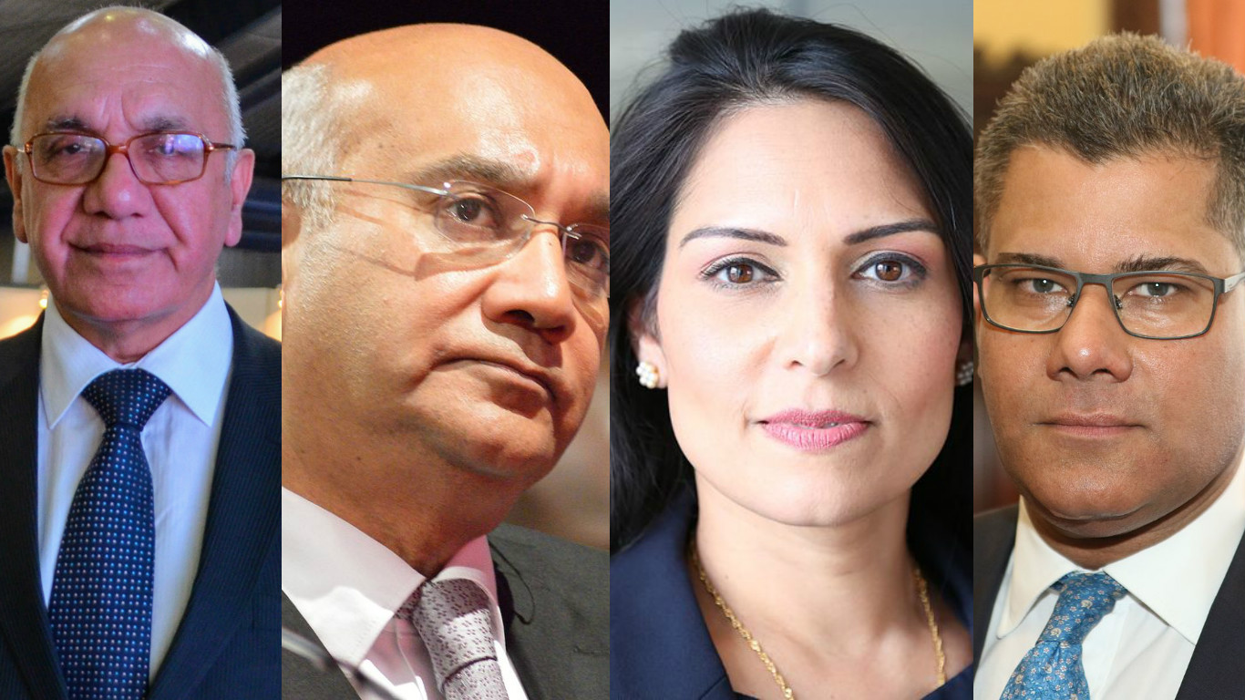From left: Virendra Sharma, Keith Vaz, Priti Patel and Alok Sharma.