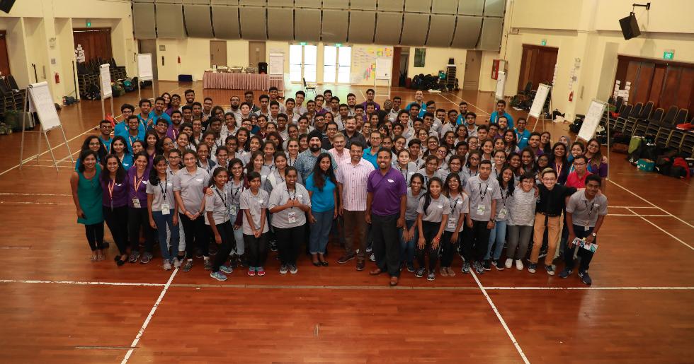 Group photo at SINDA Youth Leaders Seminar 2017. Photo courtesy: SINDA
