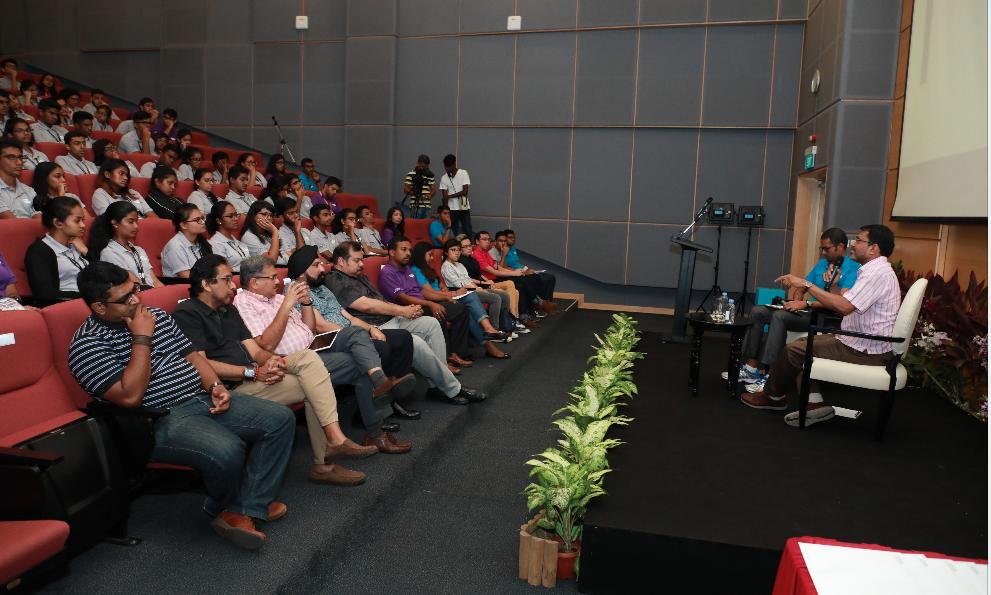 Dialogue session with Ravi Menon, Managing Director of Monetary Authority of Singapore (MAS). Photo courtesy: SINDA