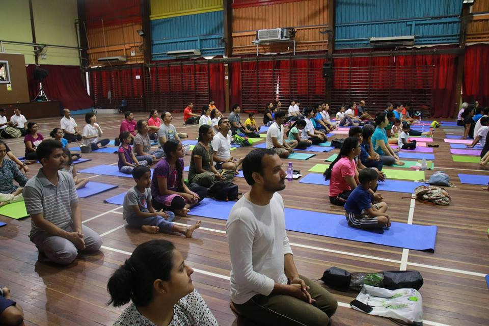 Look at the fresh young faces at IDY at GIIS' Queenstown campus! Photo courtesy: Global Indian International School (GIIS), Queenstown