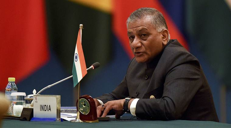 Indian Minister for State for External Affairs VK Singh at the BRICS pre-summit meet.