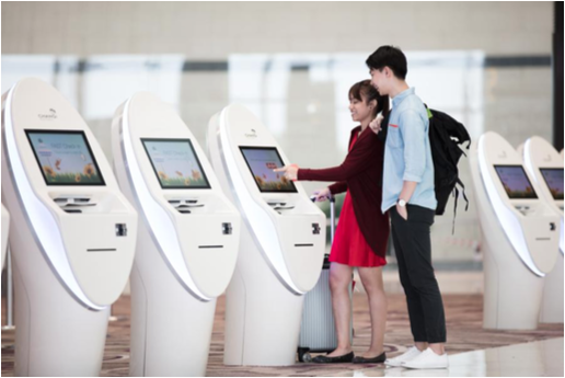 Automated Check-in Kiosk. Photo courtesy: CAG