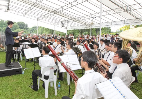 School band performing at a previous Istana open house. Photo courtesy: istana.gov.sg