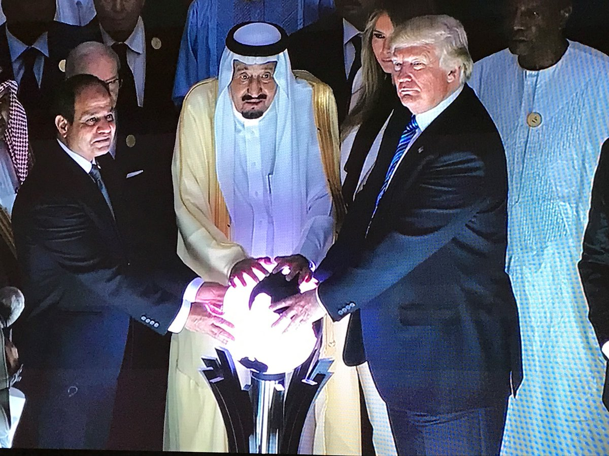 The glowing orb that went viral on social media. Photo courtesy: Saudi Embassy USA Twitter