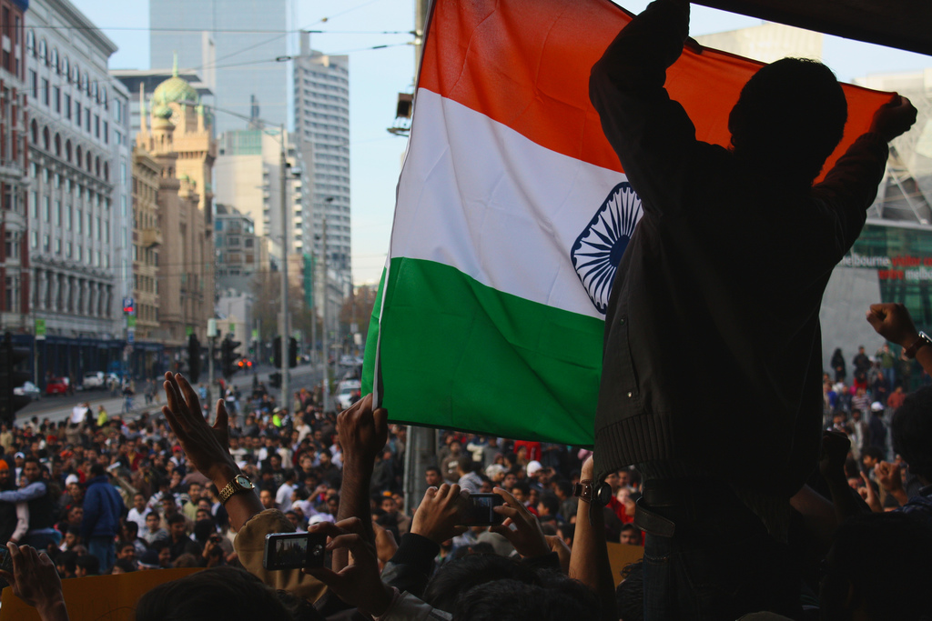 Indians protesting in Melbourne.