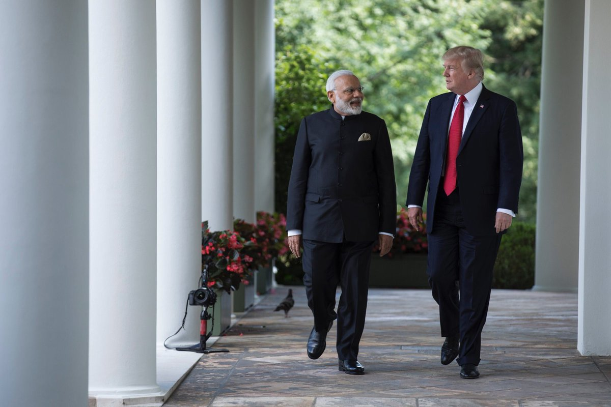 Indian Prime Minister Narendra Modi (left) with US President Donald Trump. Photo courtesy: Twitter
