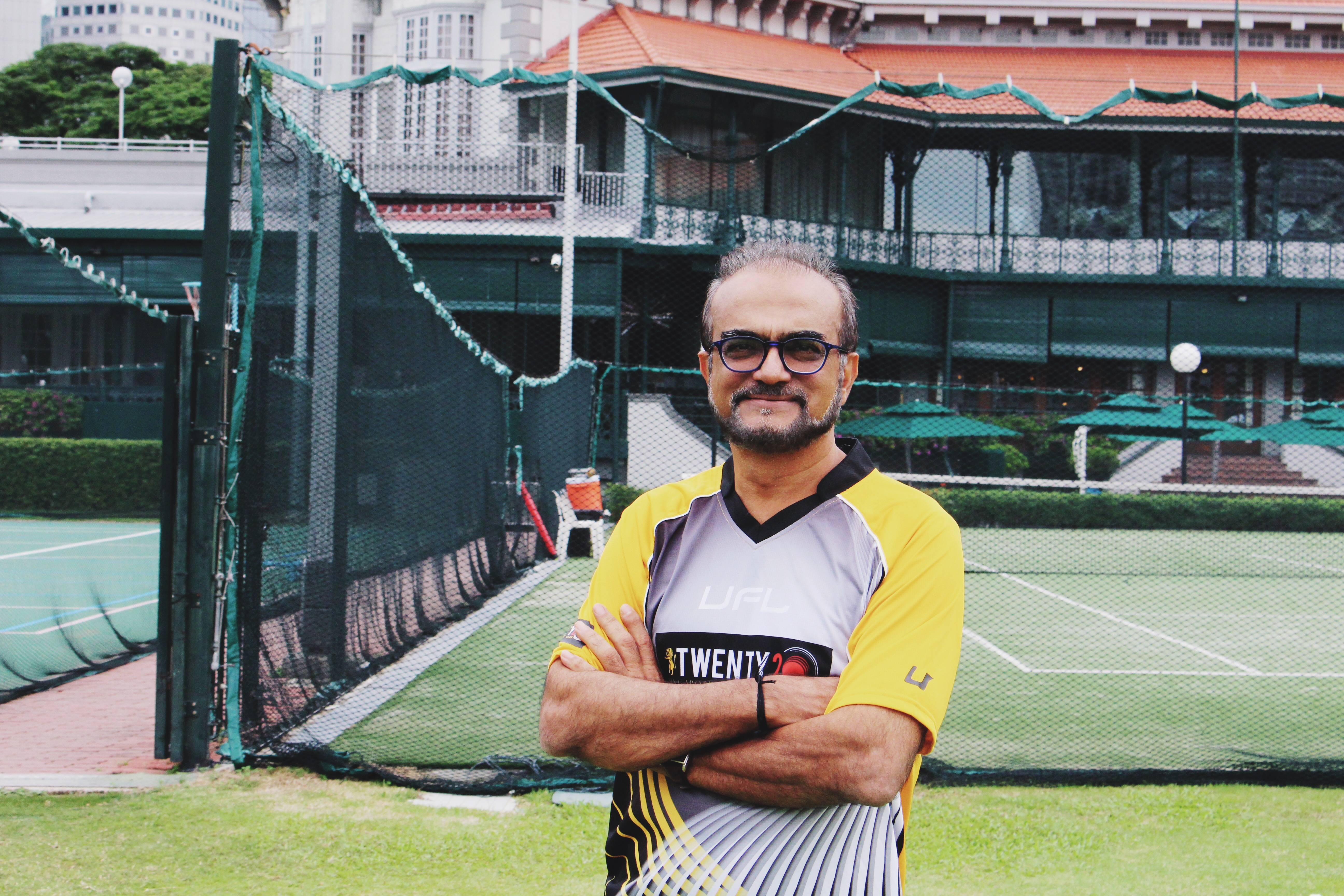 Ashok Mahtani at Singapore Cricket Club. Photo: Connected to India