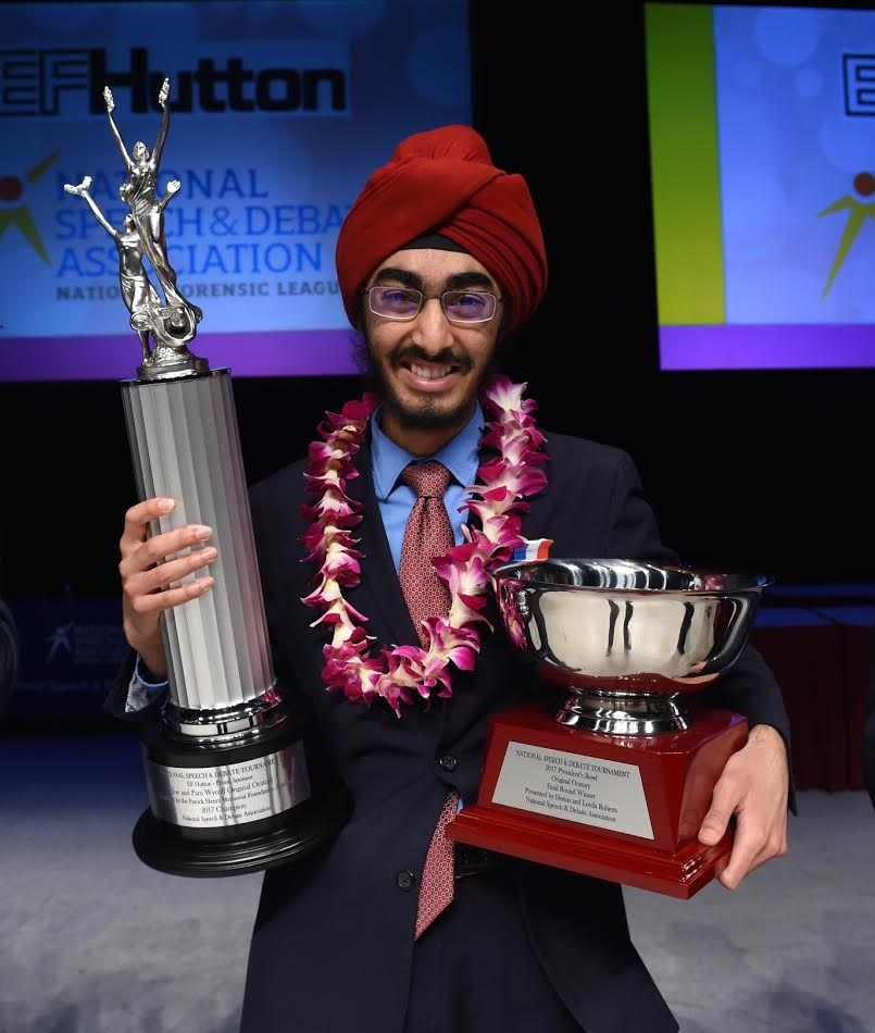 JJ Kapur with the trophies he won.