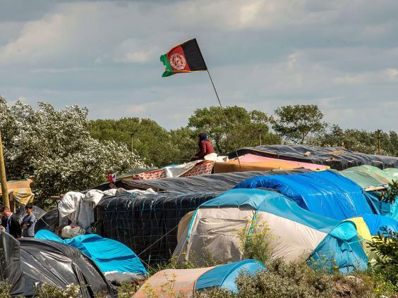 An Afghan refugee camp.