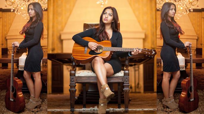 Indian-American singer Rianjali.