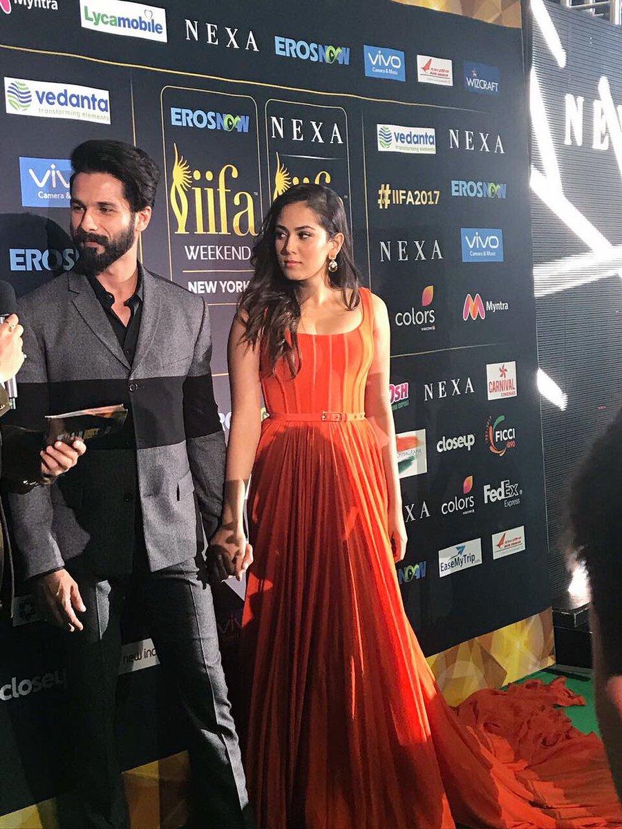 Shahid Kapoor with his wife Mira Rajput.