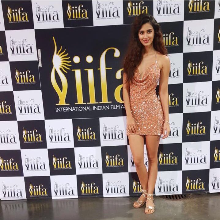 Disha Patani poses for photos.