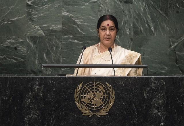 Indian EAM Sushma Swaraj.