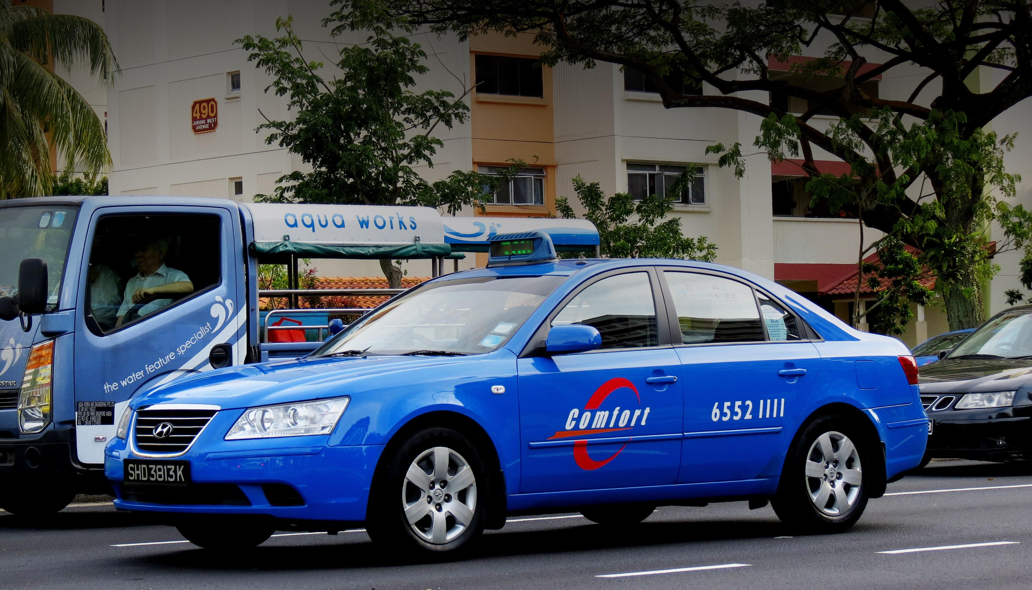 ComfortDelGro taxi. Photo courtesy: Wikimedia