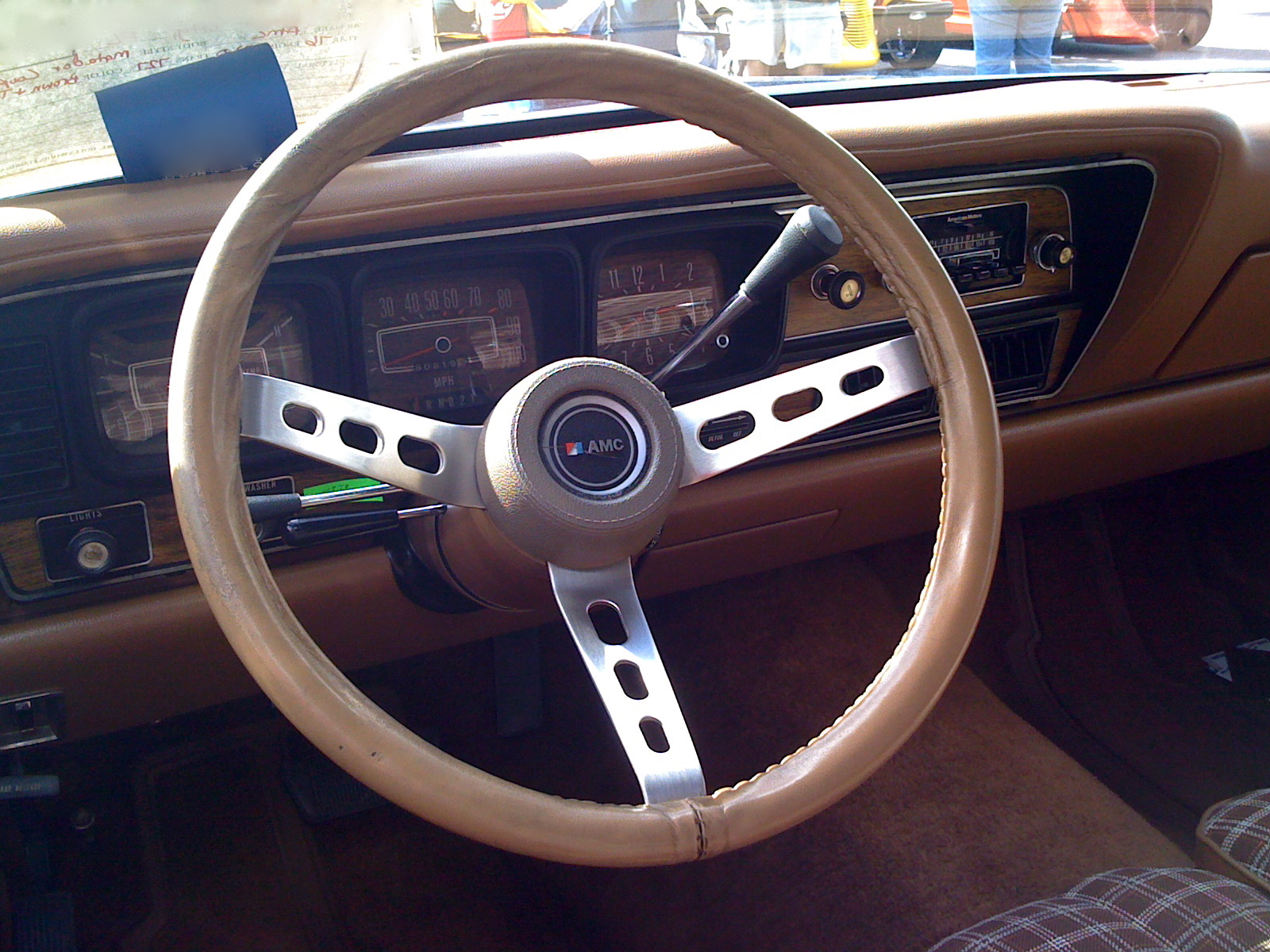 Steering wheel. Photo courtesy: Wiki