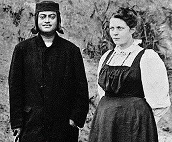 Swami Vivekananda (left) with Sister Nivedita.