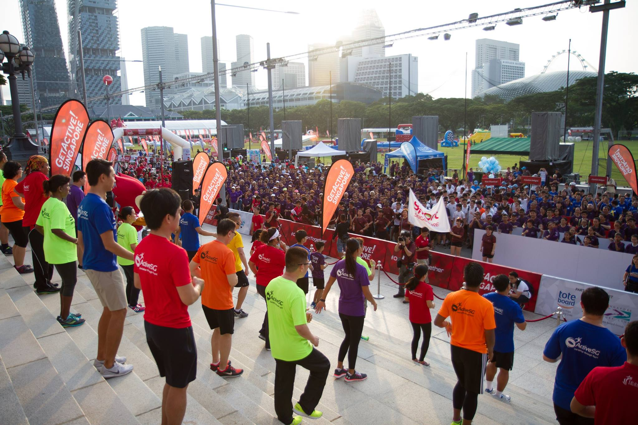 GetActive! Singapore Launch at The Padang on July 30, 2017. Photo courtesy: Dyan Tjhia, Sport Singapore