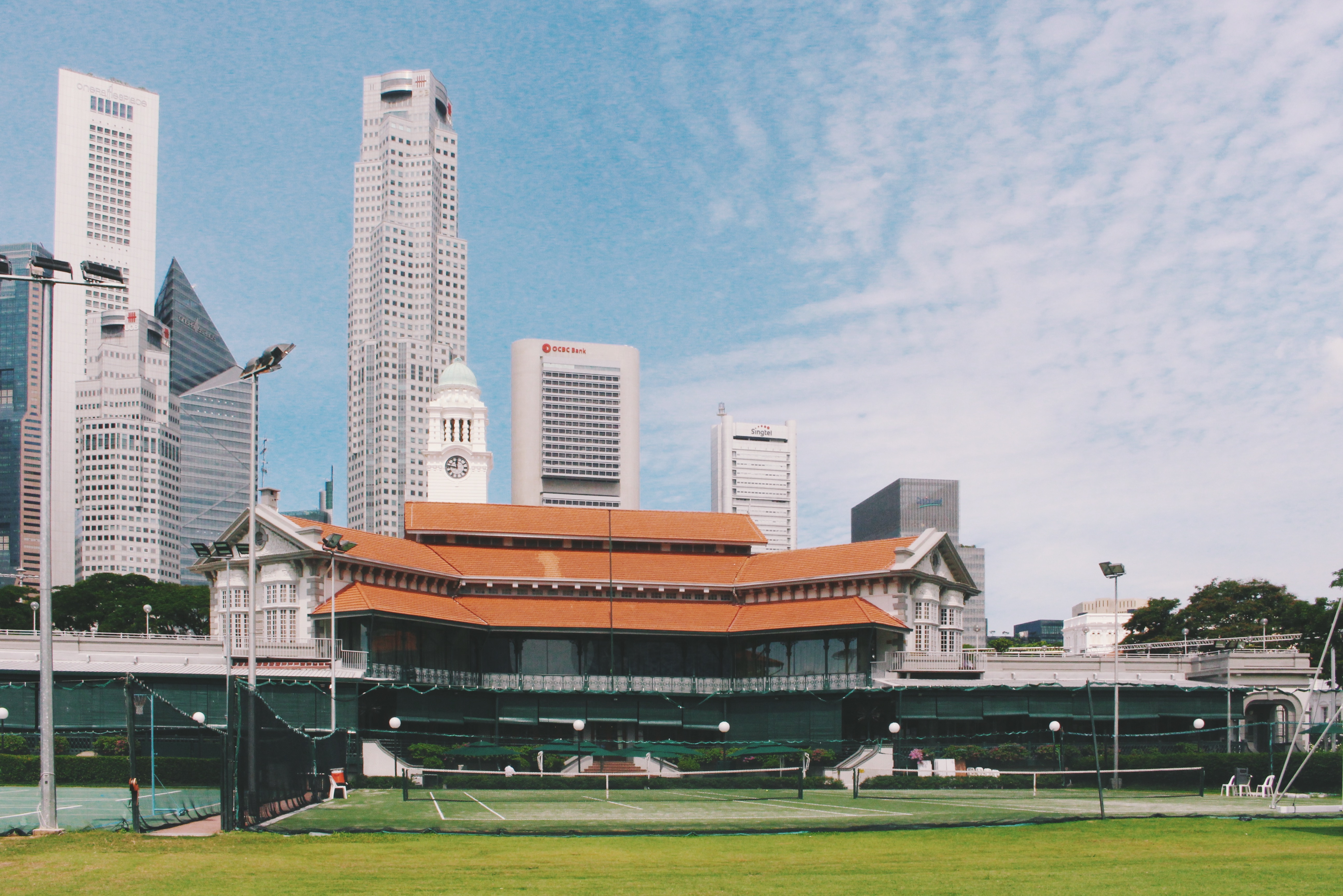The Padang Cricket Ground.