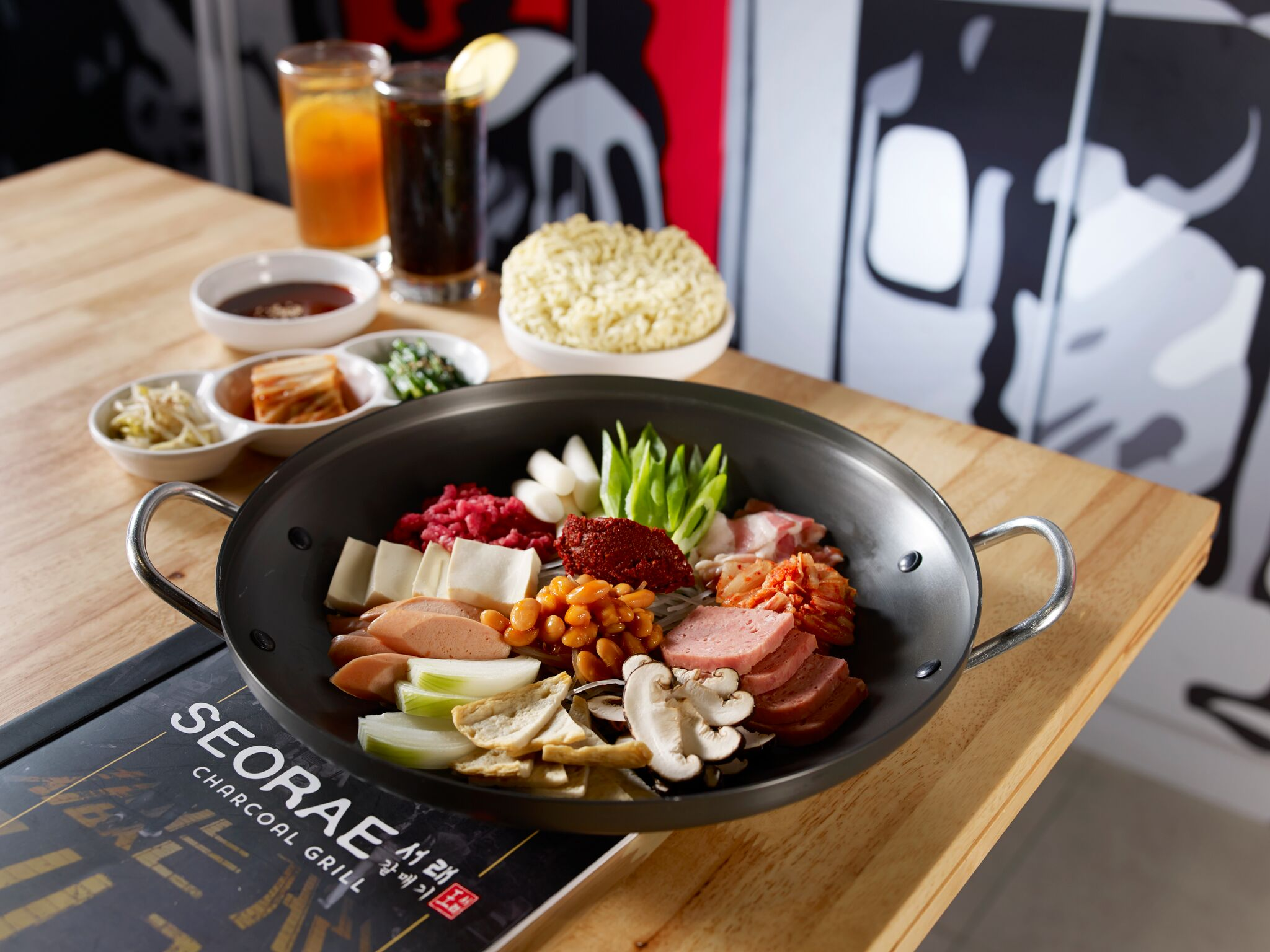 Budae Jjigae Lunch Set for two. Photo courtesy: SEORAE