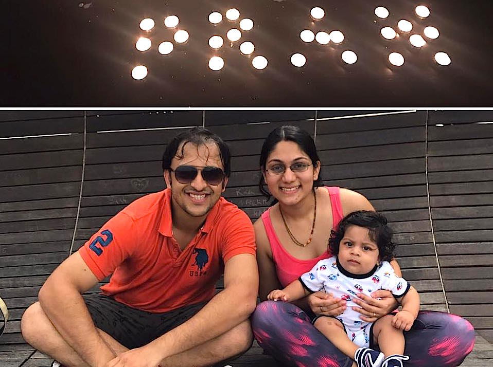 Prantik Mazumdar, Managing Partner at Happy Marketer with his wife Dipti Kamaz and son Ayaan. Photo courtesy: Prantik Mazumdar