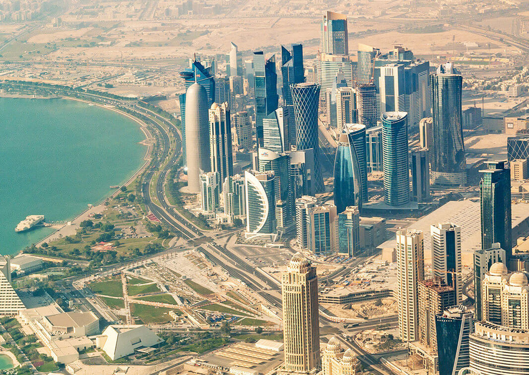 Citizens of 80 countries including Singapore and India can receive tourist visas on arrival at Qatar.