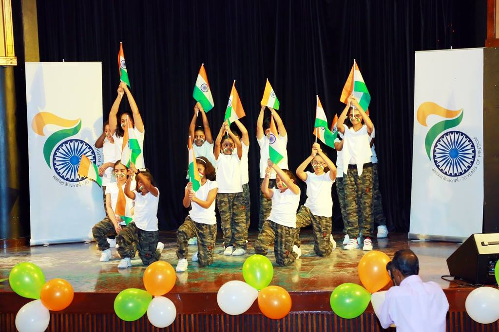 Cultural performances to celebrate 70th Anniversary of Independence by St. Joseph School, Steps and Strings and Indian Ladies Association.