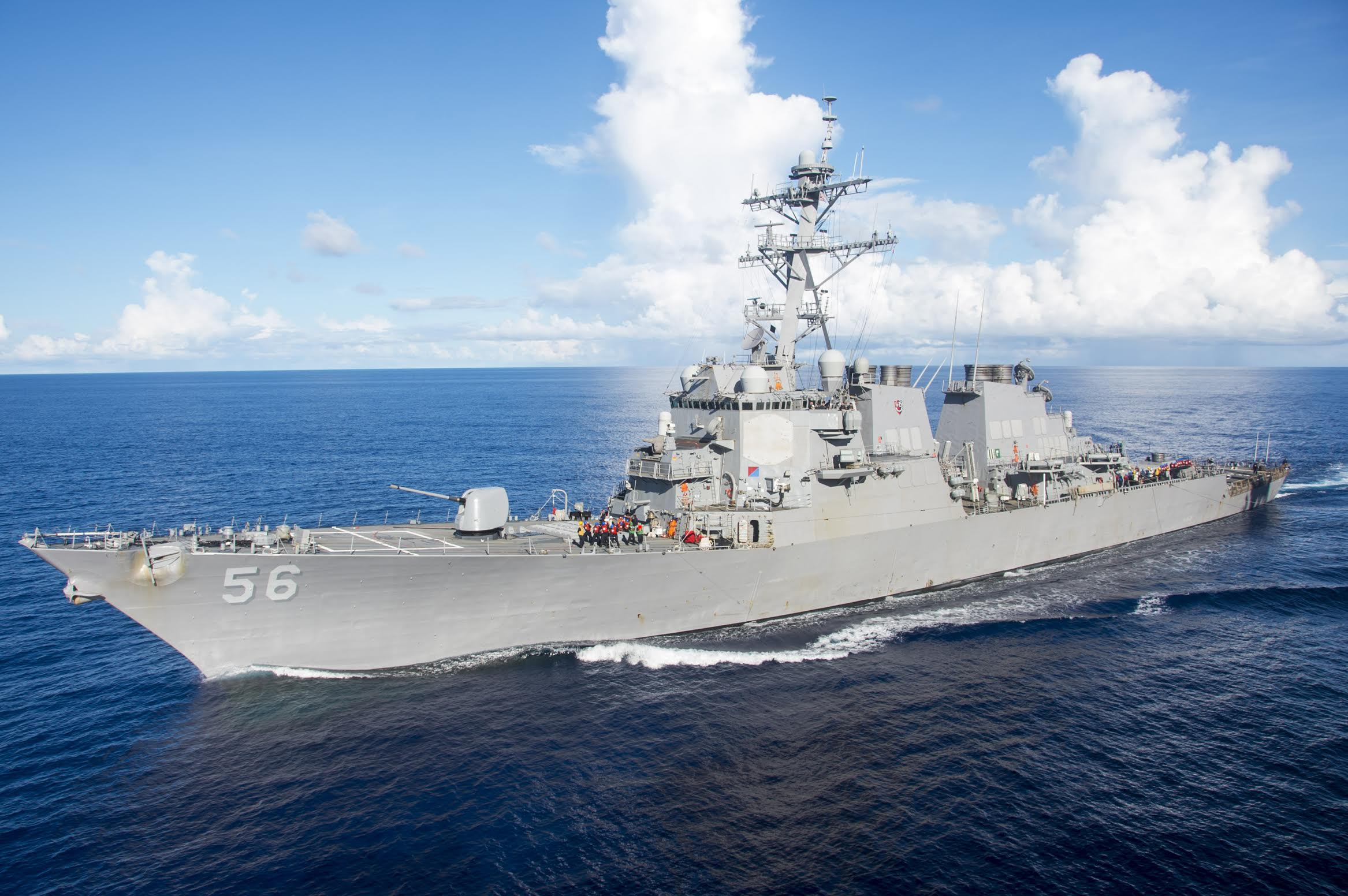 Official U.S. Navy file photo of the Arleigh Burke-class guided-missile destroyer USS John S. McCain DDG 56. Photo courtesy: US Navy