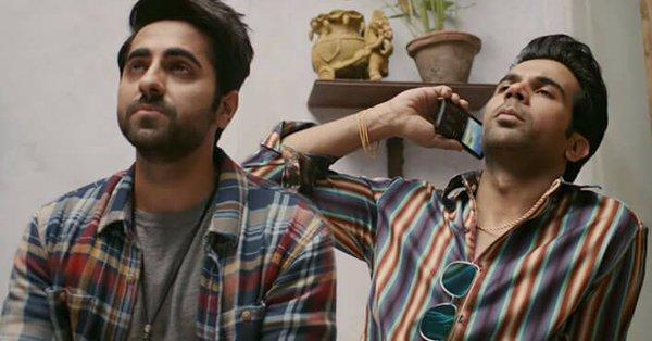 Ayushmann Khurrana with Rajkummar Rao.