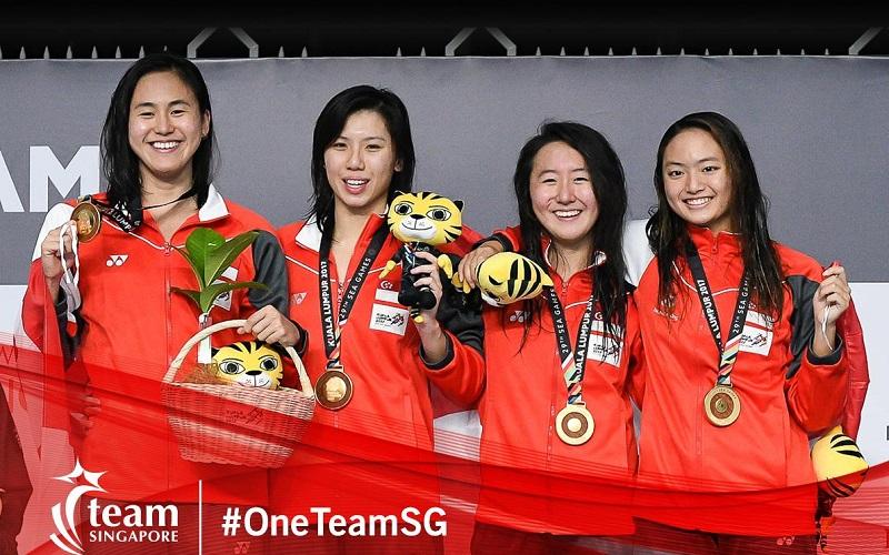 Quah Ting Wen, Amanda Lim, Natasha Ong and Quah Jing Wen