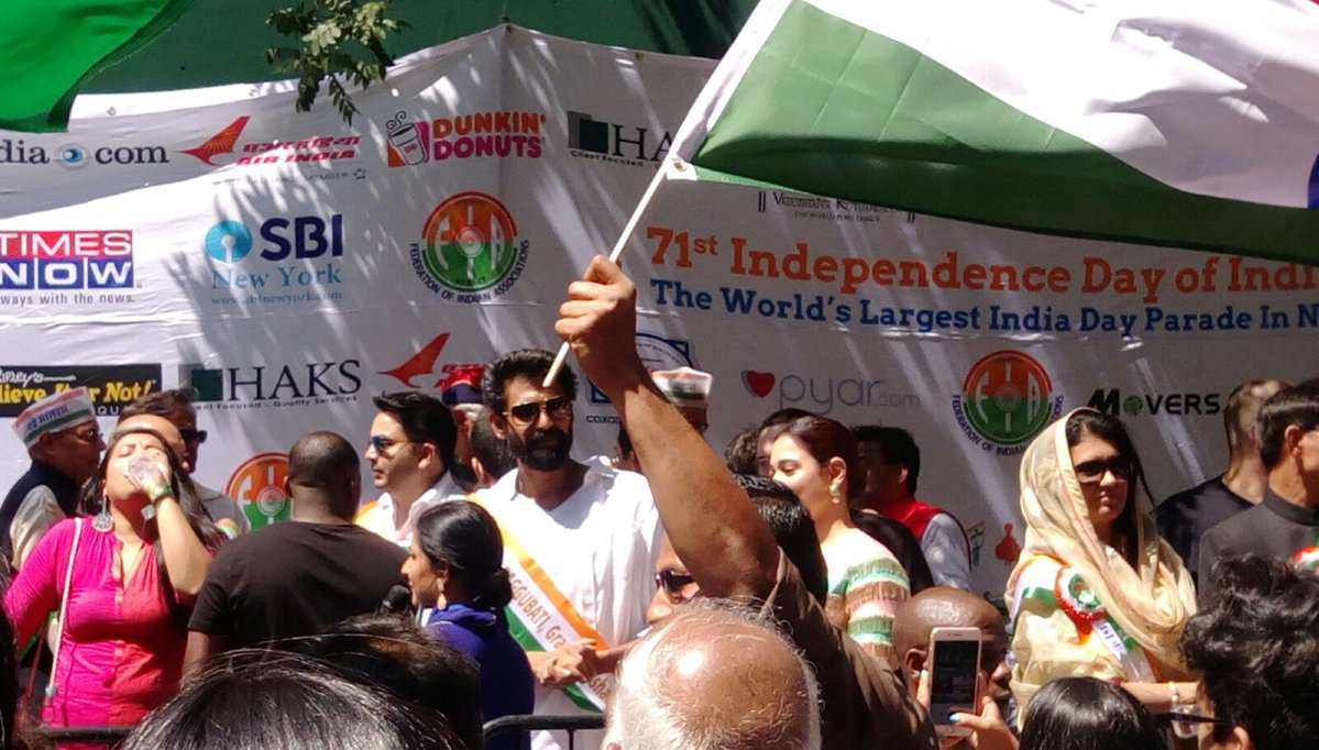 Rana Daggubati was the Grand Marshal for the parade.