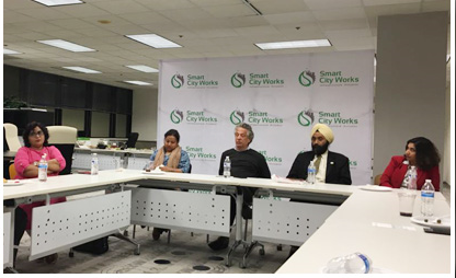 USINPAC, Smart City Works host Urban planning delegation from India