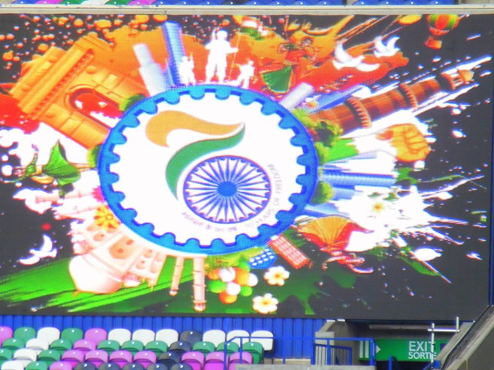 Indian Independence Day celebrations in full swing at the Murrayfield Stadium in Edinburgh, Scotland.