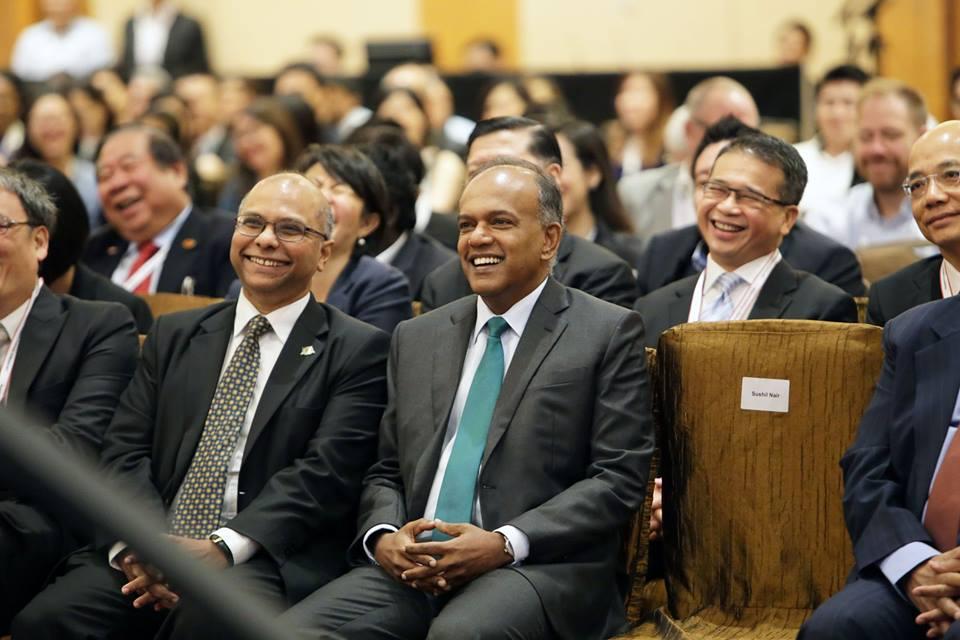 Singapore Home Affairs and Law Minister K Shanmugam.