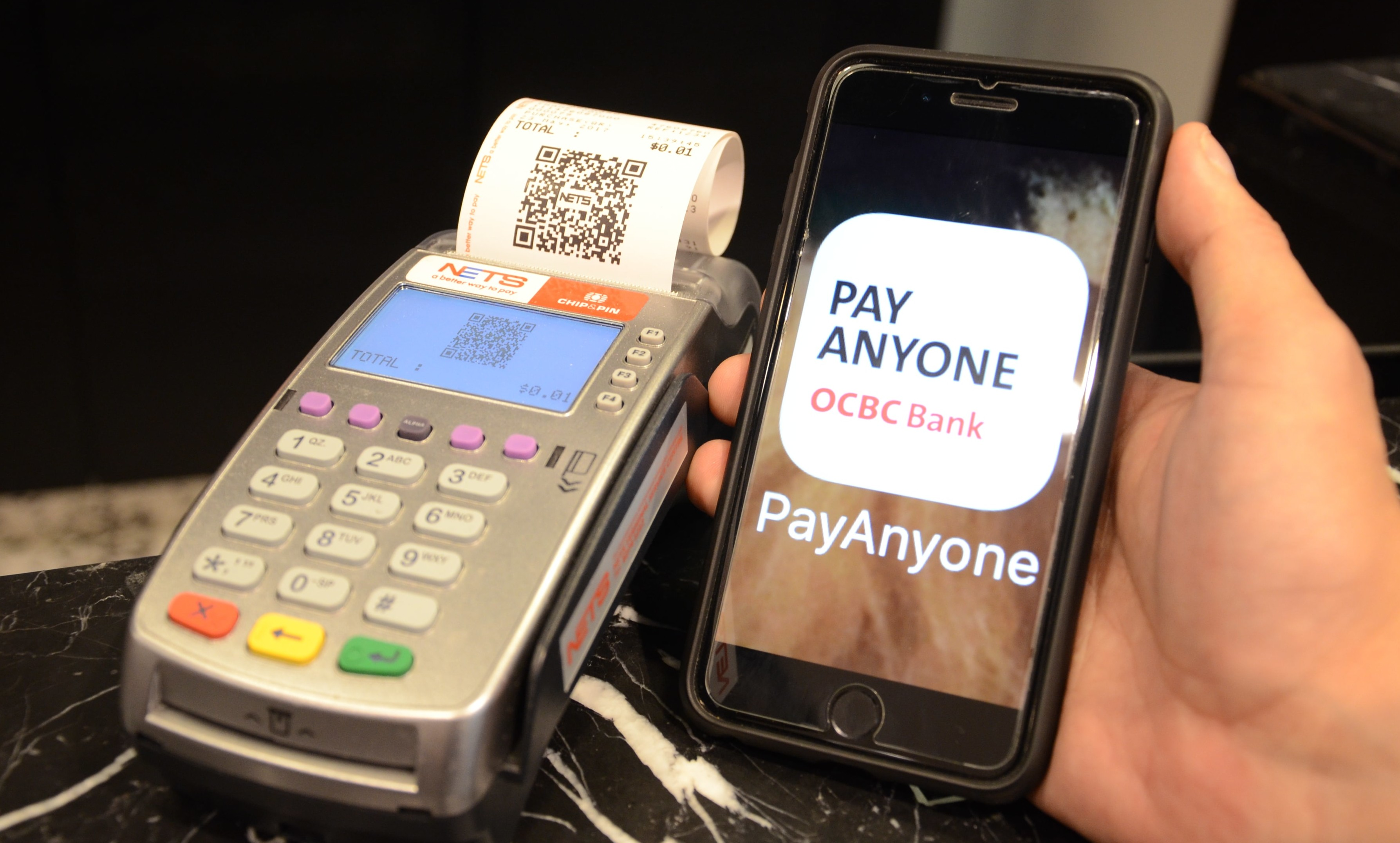 OCBC Bank has been pushing for QR code payments in Singapore.