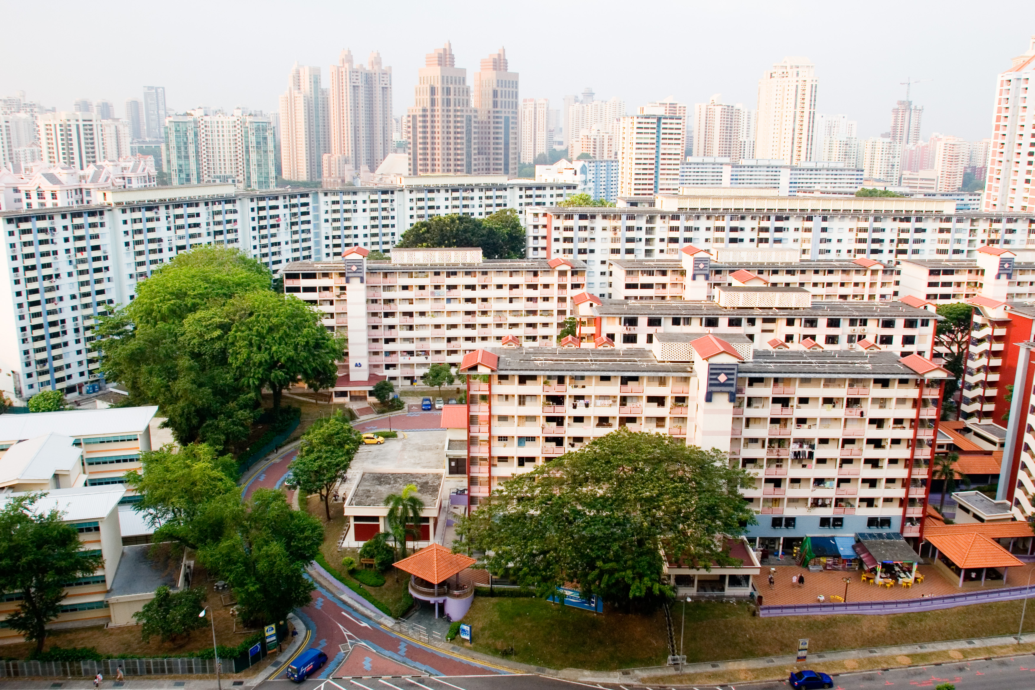 Blocks of HDB flats in Singapore.
