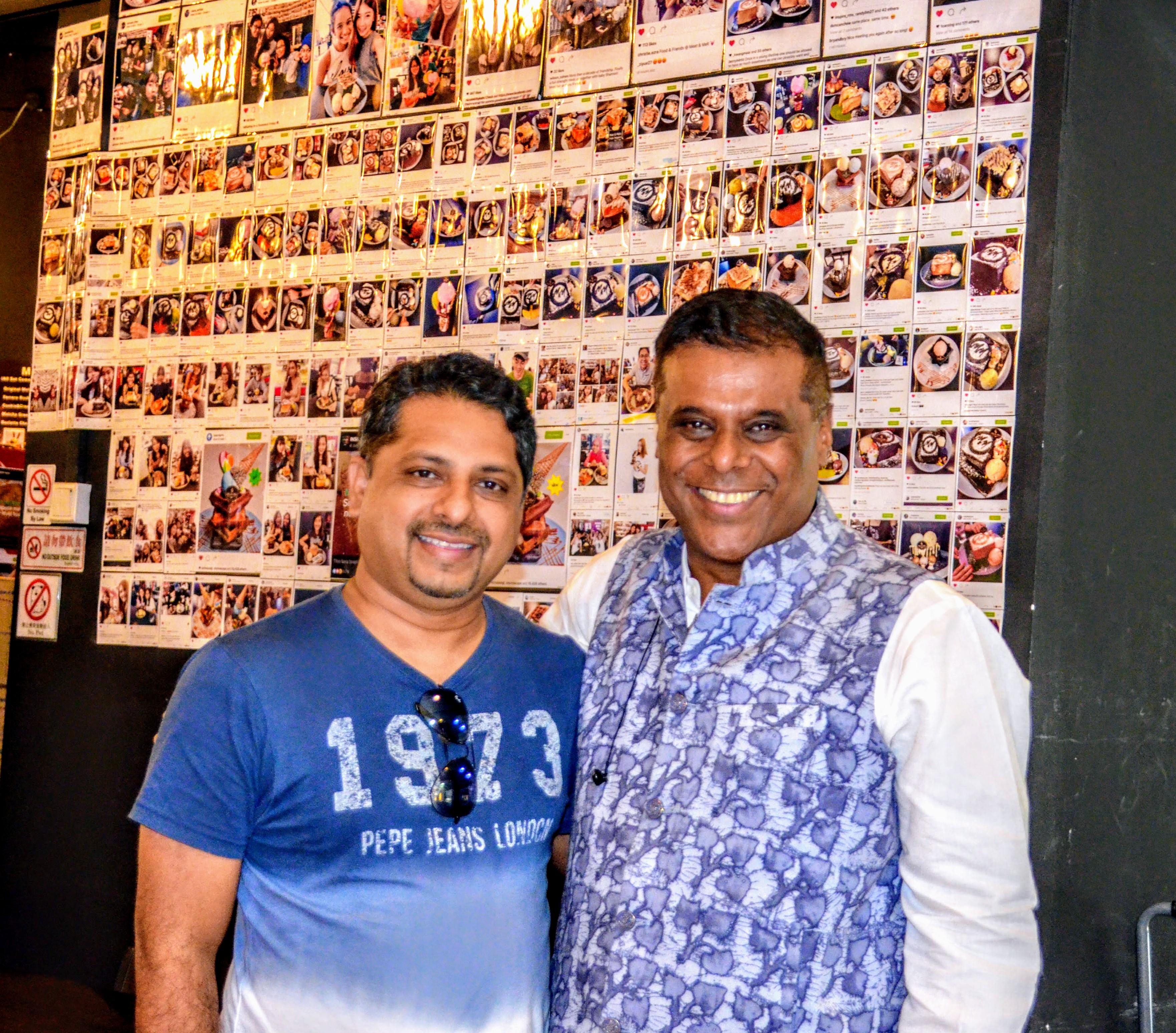 Ashish Vidyarthi with Filmwallas's founder and CEO, Zafar Anjum Photo: Connected to India