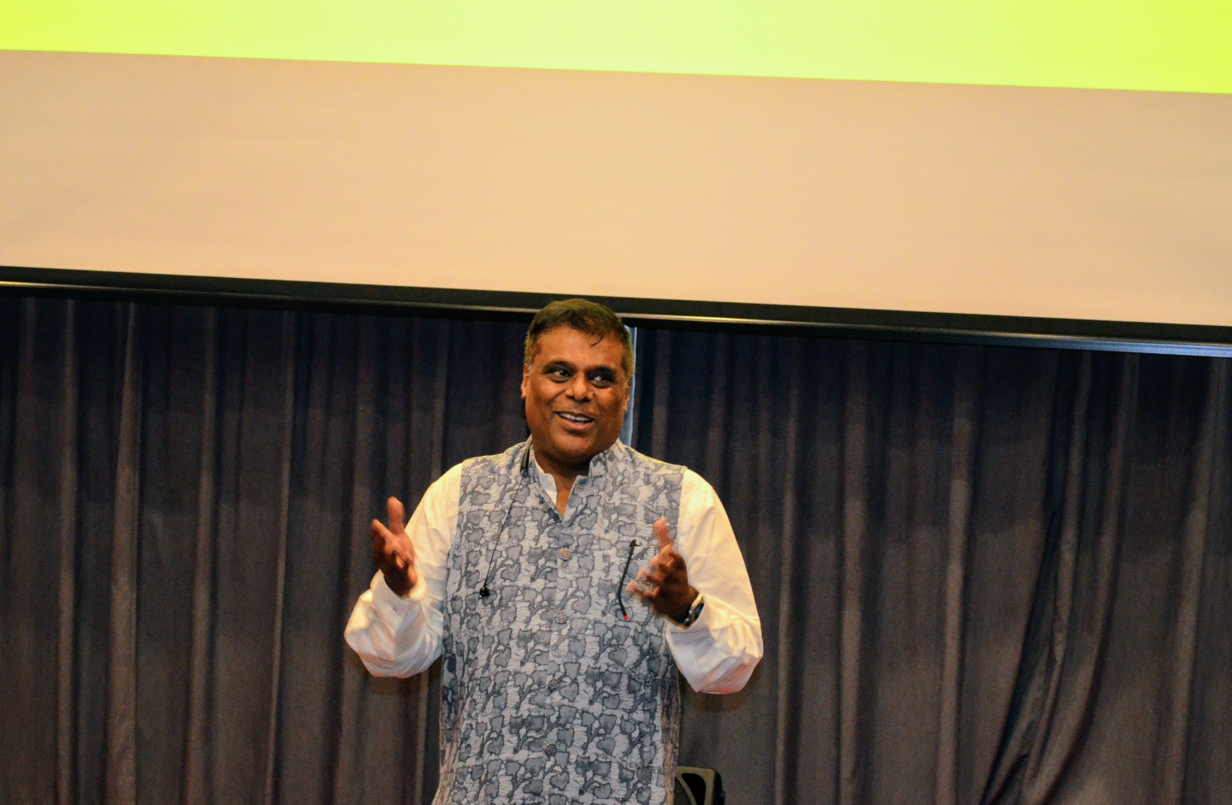 Ashish Vidyarthi delivering his Masterclass in Singapore Photo: Connected to India