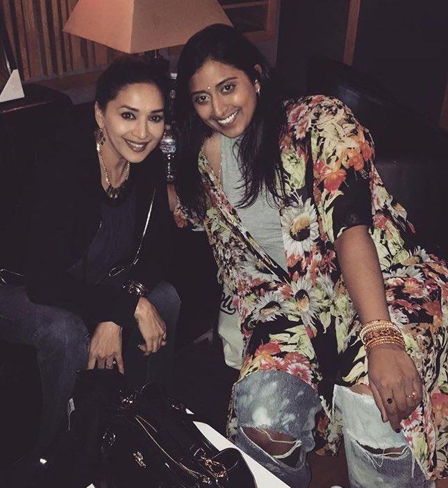 Raja Kumari with Bollywood dance queen Madhuri Dixit.