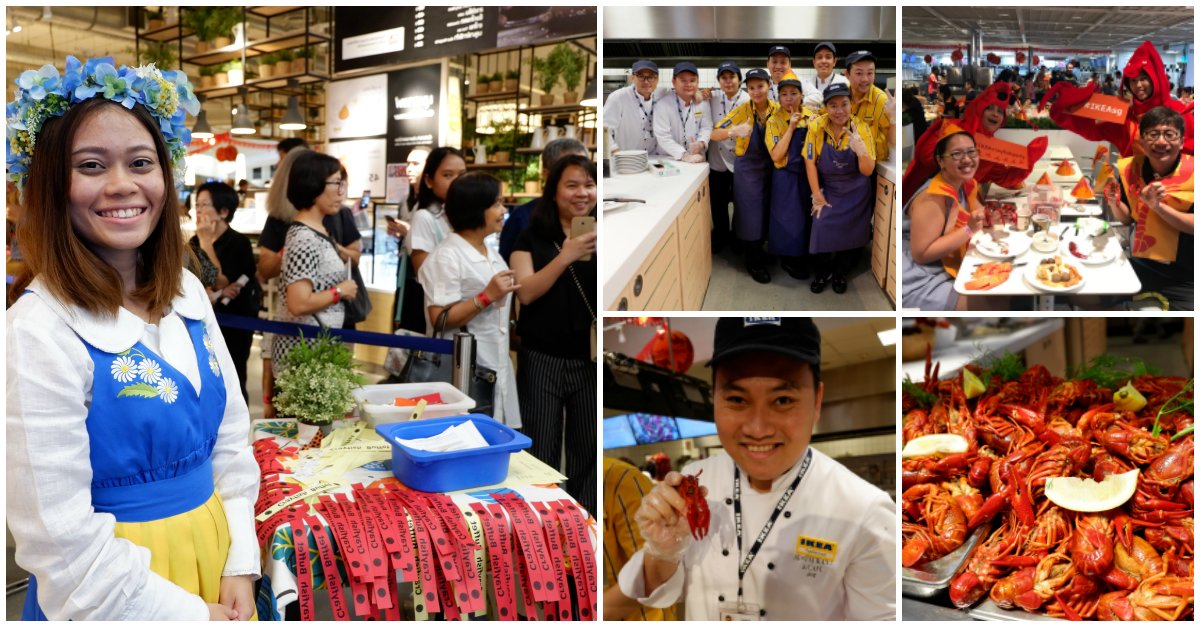 IKEA Southeast Asia employees during an all-you-can-eat crayfish feast.