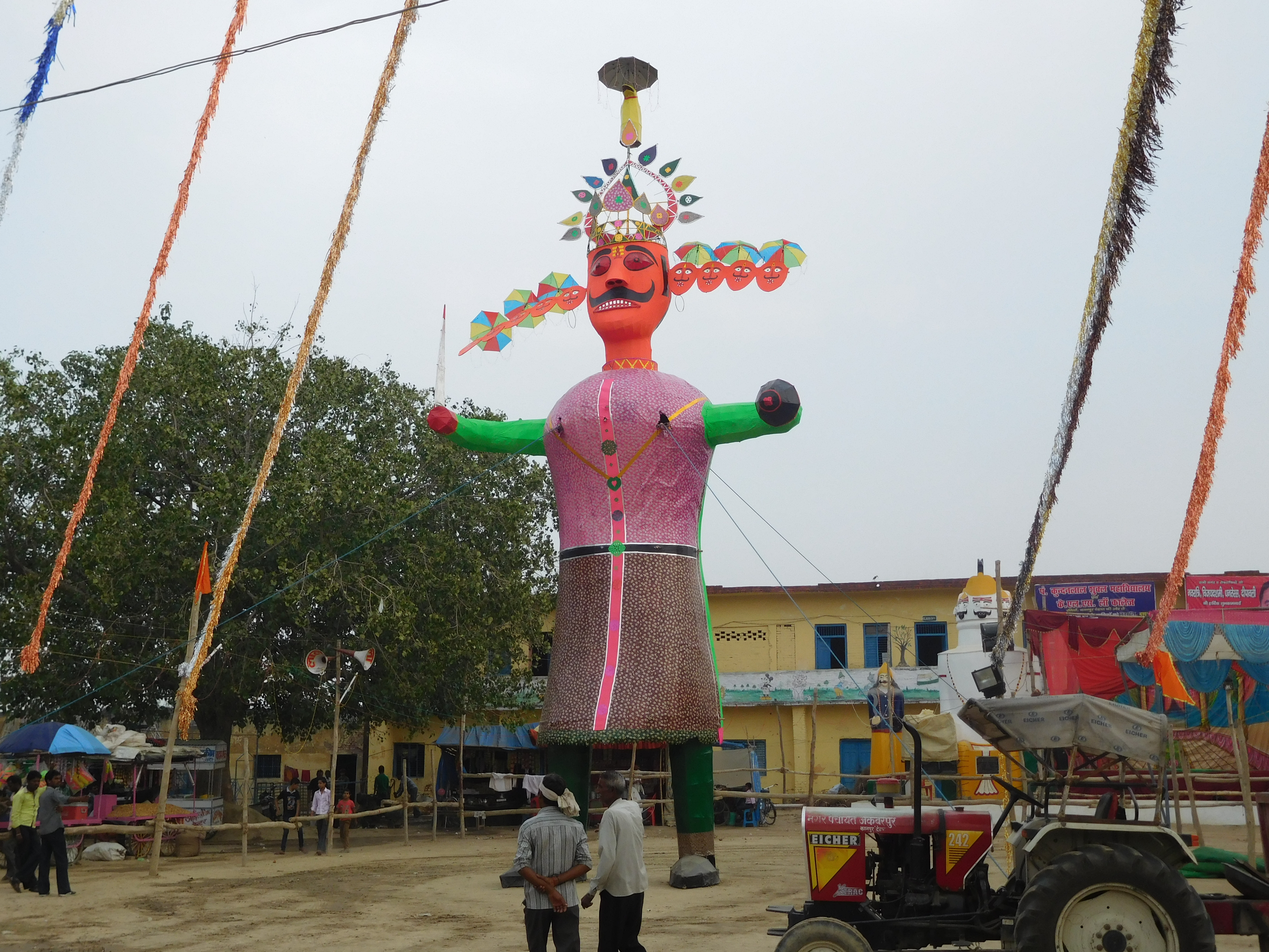 An effigy of Ravana.