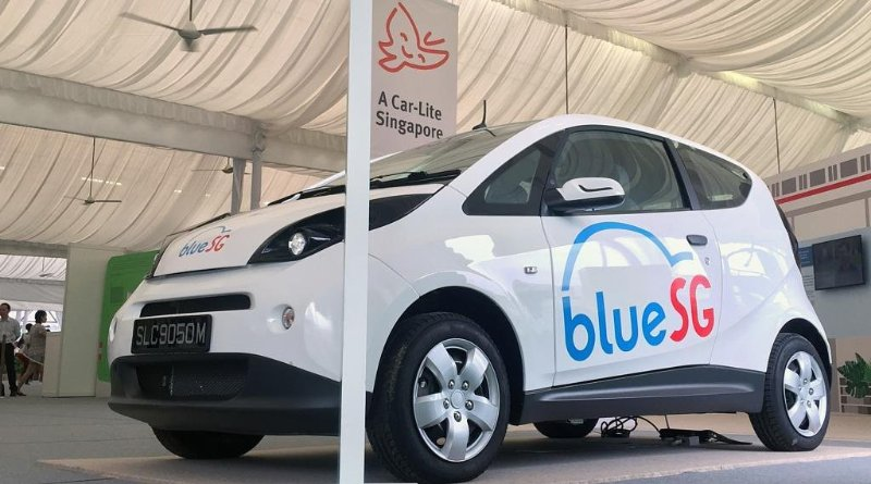 Blue SG-world's second largest car-sharing service in Singapore