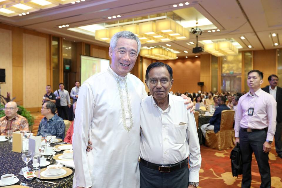 PM Lee with his teacher Ravi