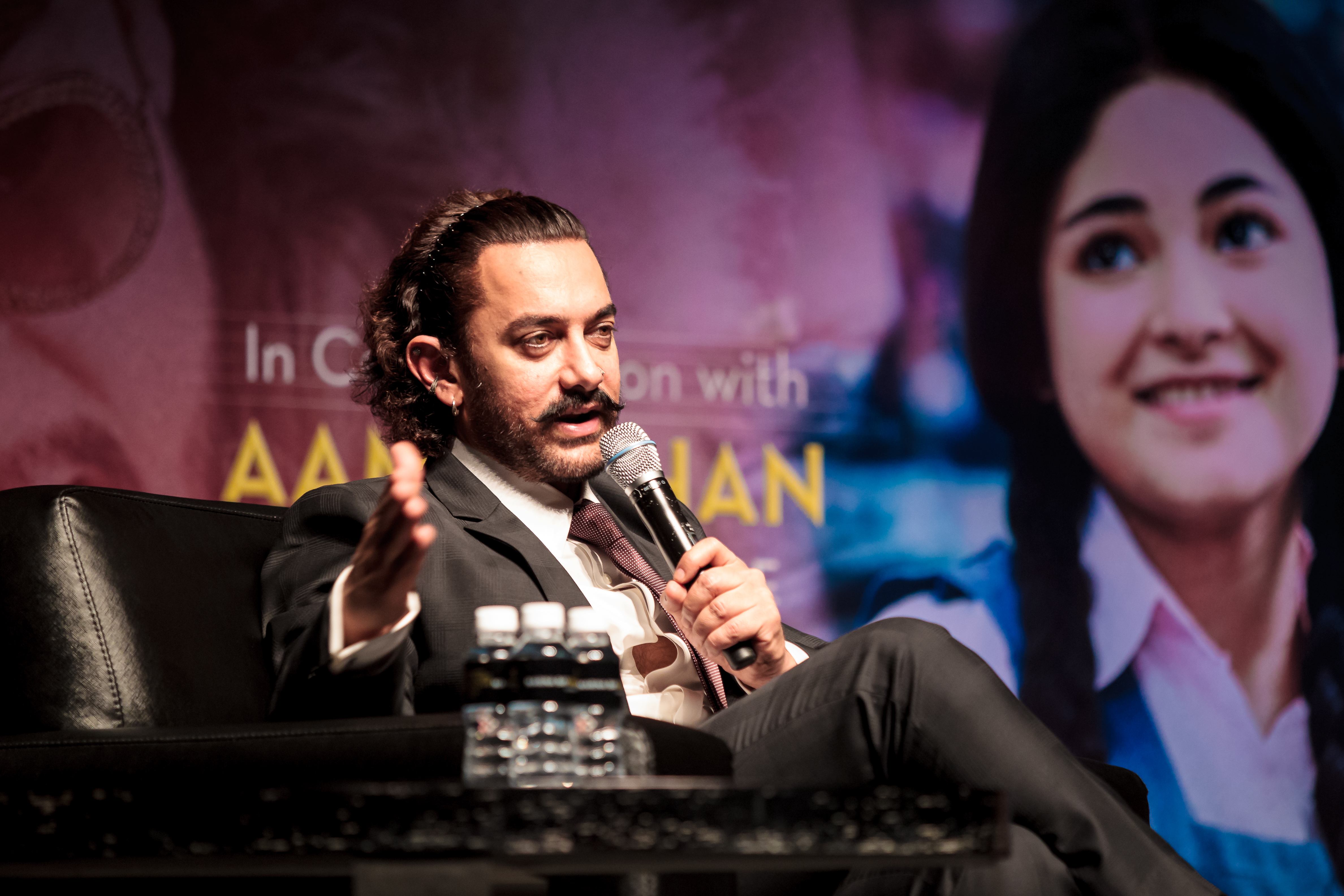 Aamir answered questions posed by the audience with refreshing honesty.