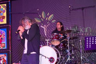 Indian singer Lucky Ali performs at Singapore's YuuZoo launch of Tribe Nation app in India.