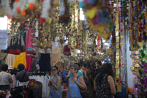 Many people are thronging Little India in Singapore to make purchase for Deepavali festival.