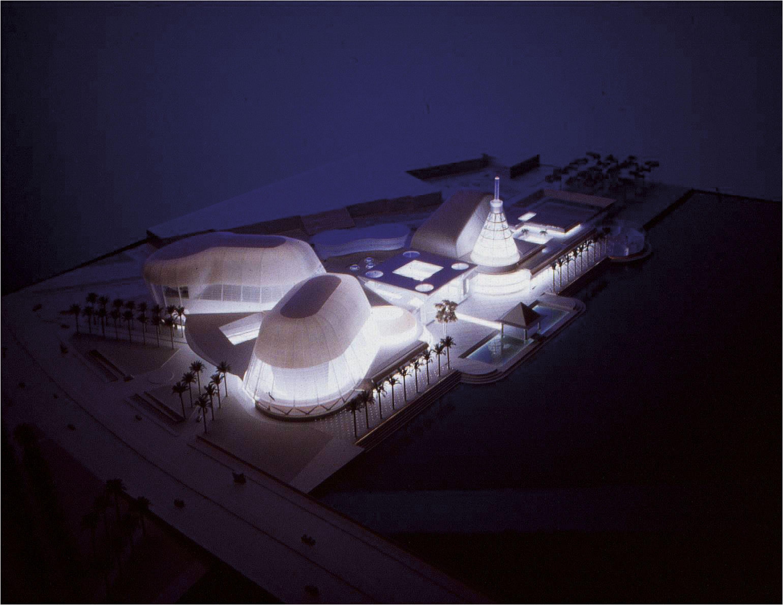 Early model of Esplanade from 1994 Photo courtesy: Esplanade – Theatres on the Bay