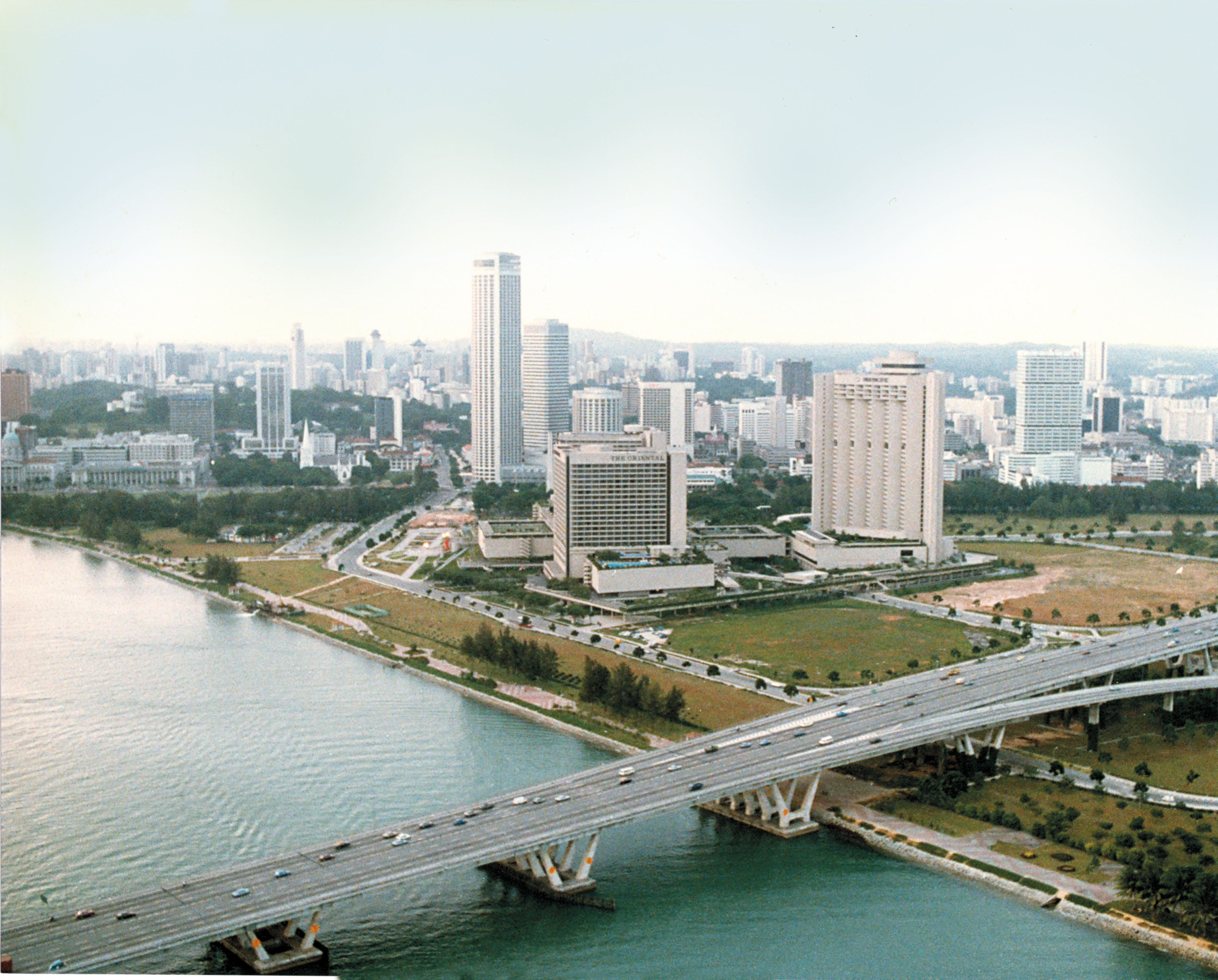 The southern Singapore coast, now known as Marina Bay, was selected for extensive land reclamation in the 1970s, to accomodate a new city centre with new amenities such as Esplanade Photo courtesy: Esplanade - Theatres on the Bay